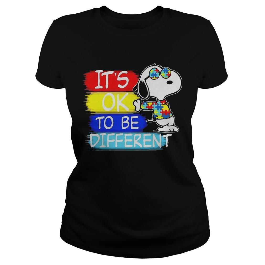 Snoopy Autism Awareness It's Ok To Be Different Longsleeve
