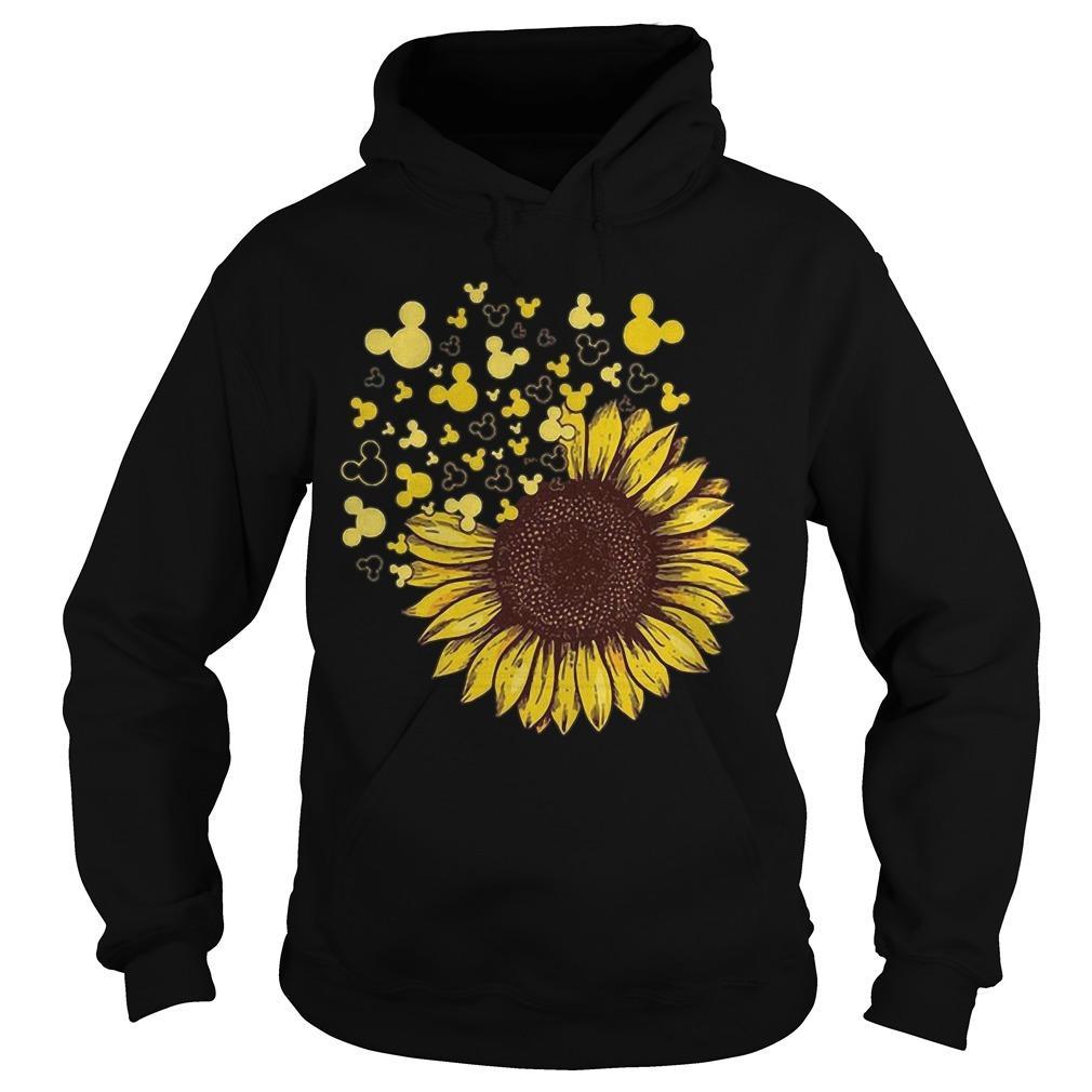 Sunflower Mashup Mickey Head Hoodie