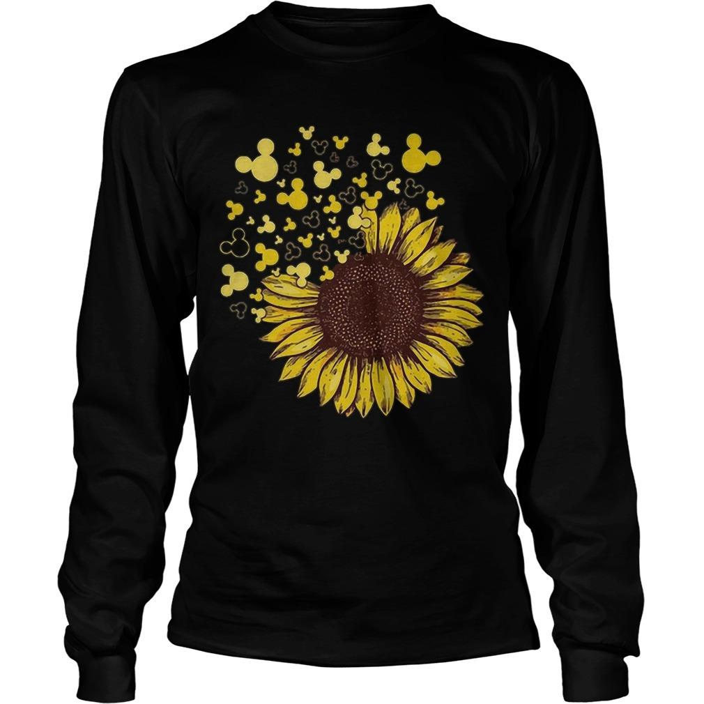 Sunflower Mashup Mickey Head Longsleeve