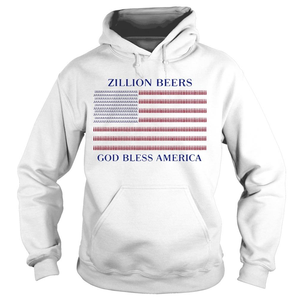 Zillion Beers God Bless America Hoodie