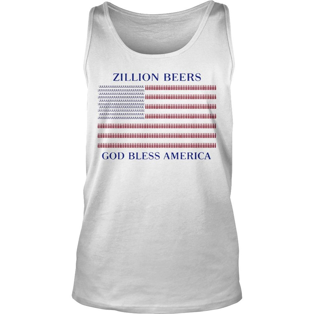 Zillion Beers God Bless America Tank Top