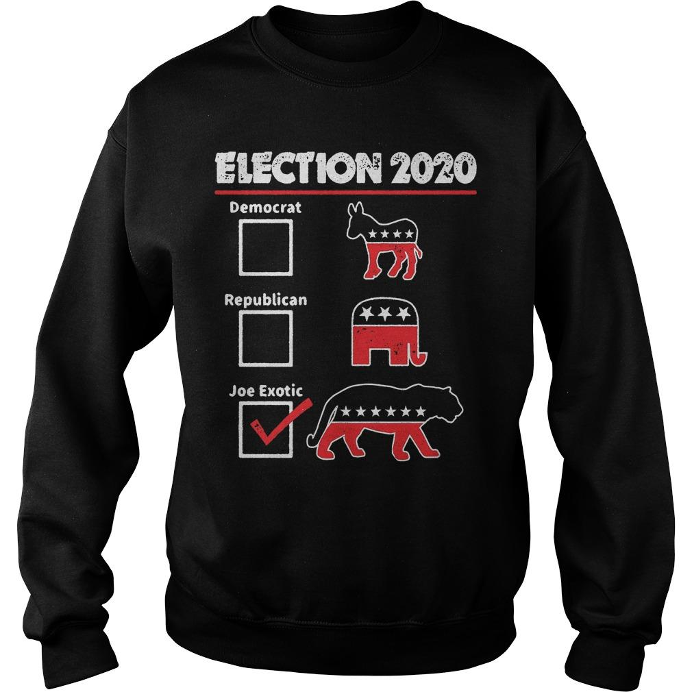 Election 2020 Democrat Republican Joe Exotic Sweater