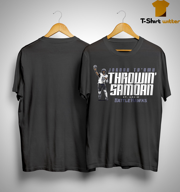 Jordan Ta'amu Throwin' Samoan St Louis Battlehawks Shirt