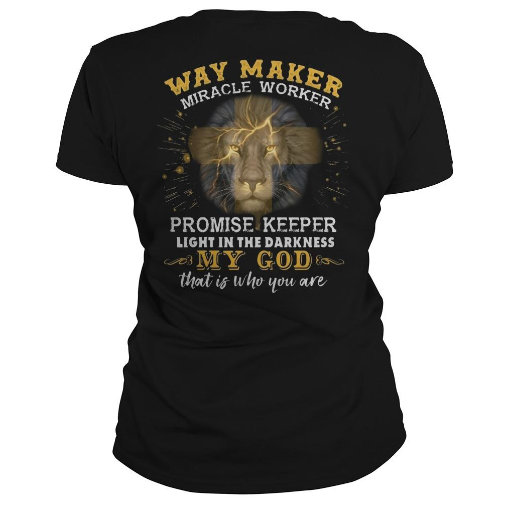 Lion Way Maker Miracle Worker Promise Keeper Longsleeve