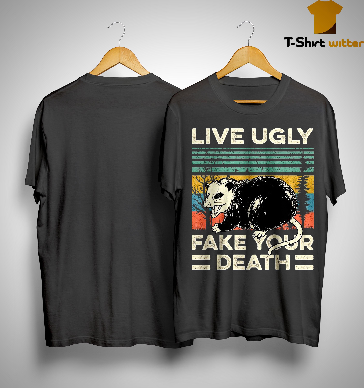 Vintage Rat Live Ugly Fake Your Death Shirt