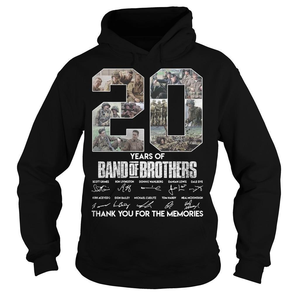 20 Years Of Band Of Brothers Thank You For The Memories Hoodie