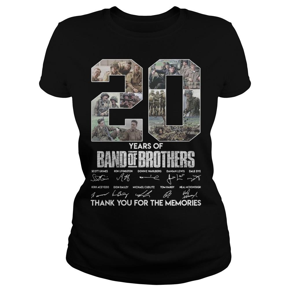 20 Years Of Band Of Brothers Thank You For The Memories Longsleeve