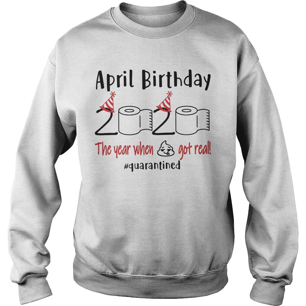 April Birthday Quarantine Sweater