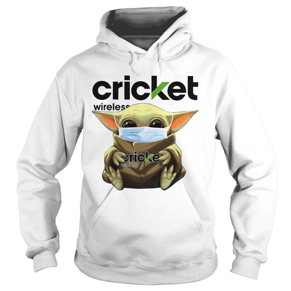 Baby Yoda Mask Hugging Cricket Wireless Hoodie