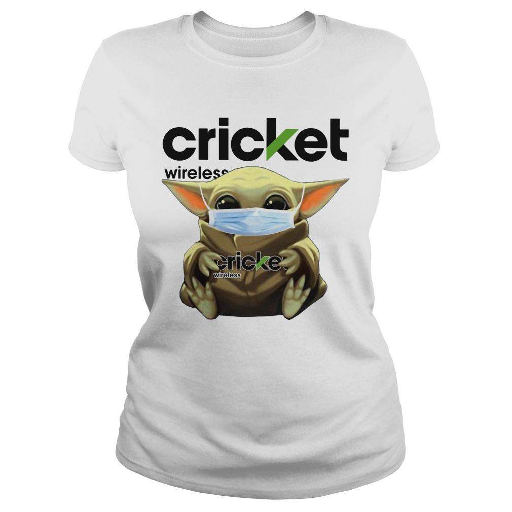 Baby Yoda Mask Hugging Cricket Wireless Longsleeve