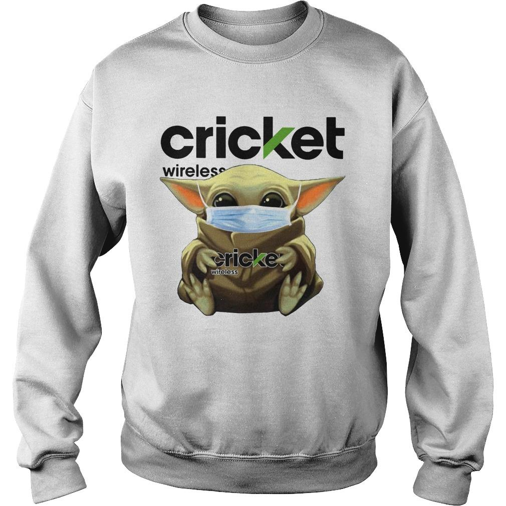 Baby Yoda Mask Hugging Cricket Wireless Sweater