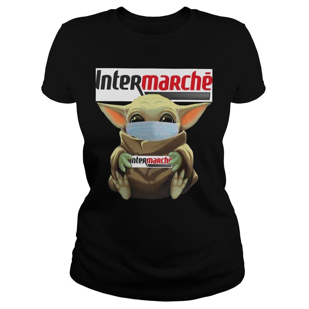 Baby Yoda Mask Hugging Intermarche Longsleeve