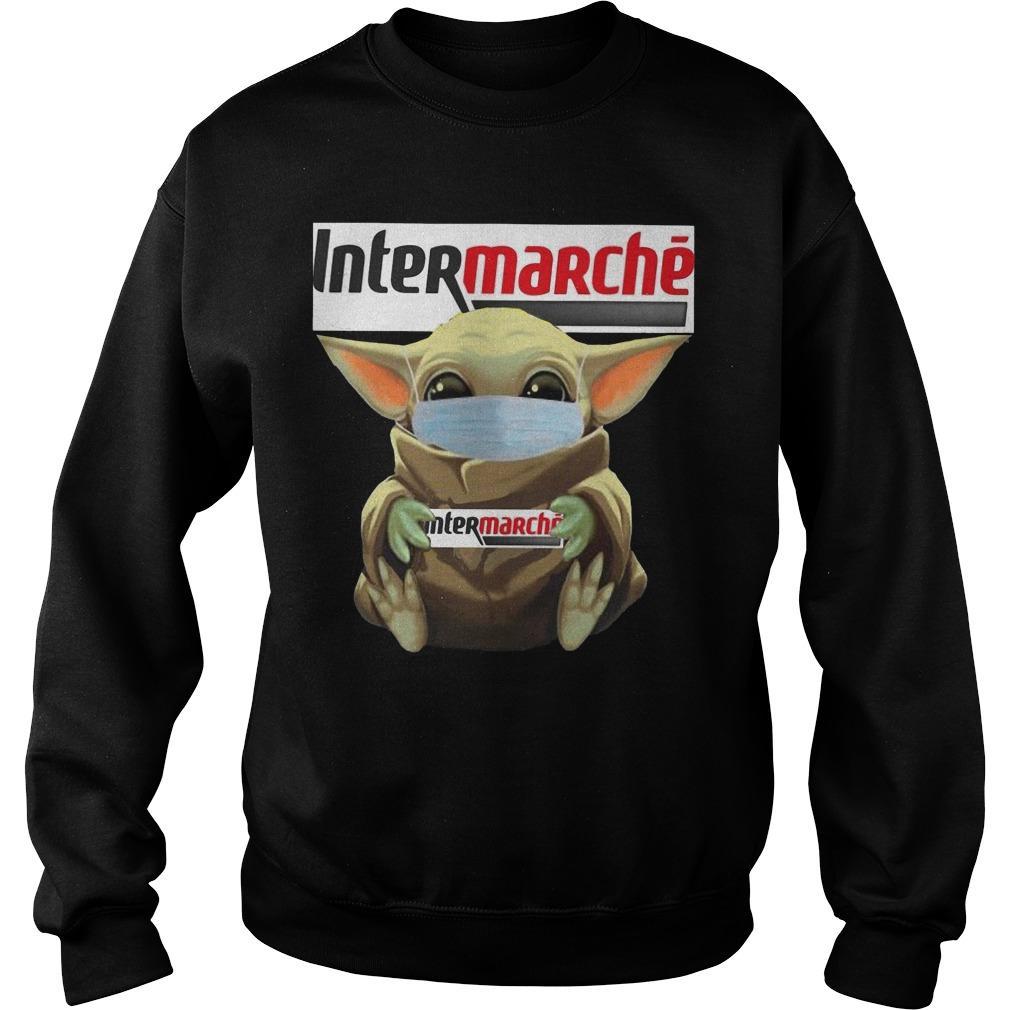 Baby Yoda Mask Hugging Intermarche Sweater