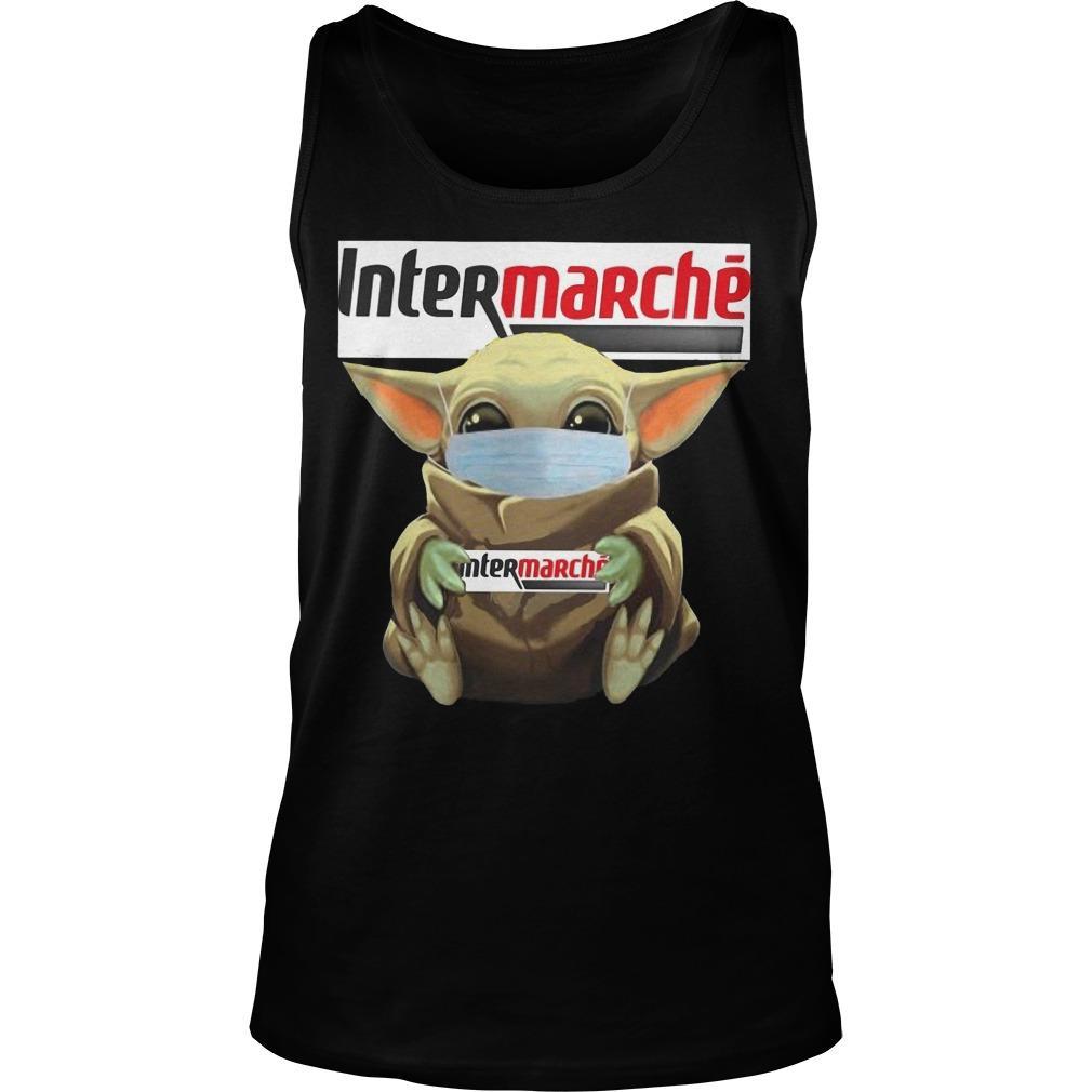 Baby Yoda Mask Hugging Intermarche Tank Top