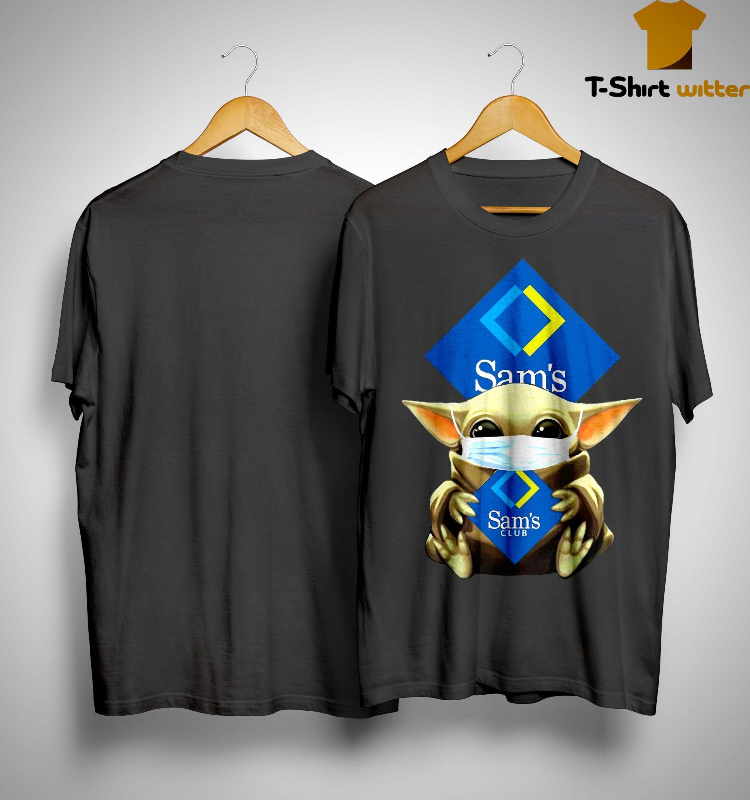 Baby Yoda Mask Sam's Club Shirt
