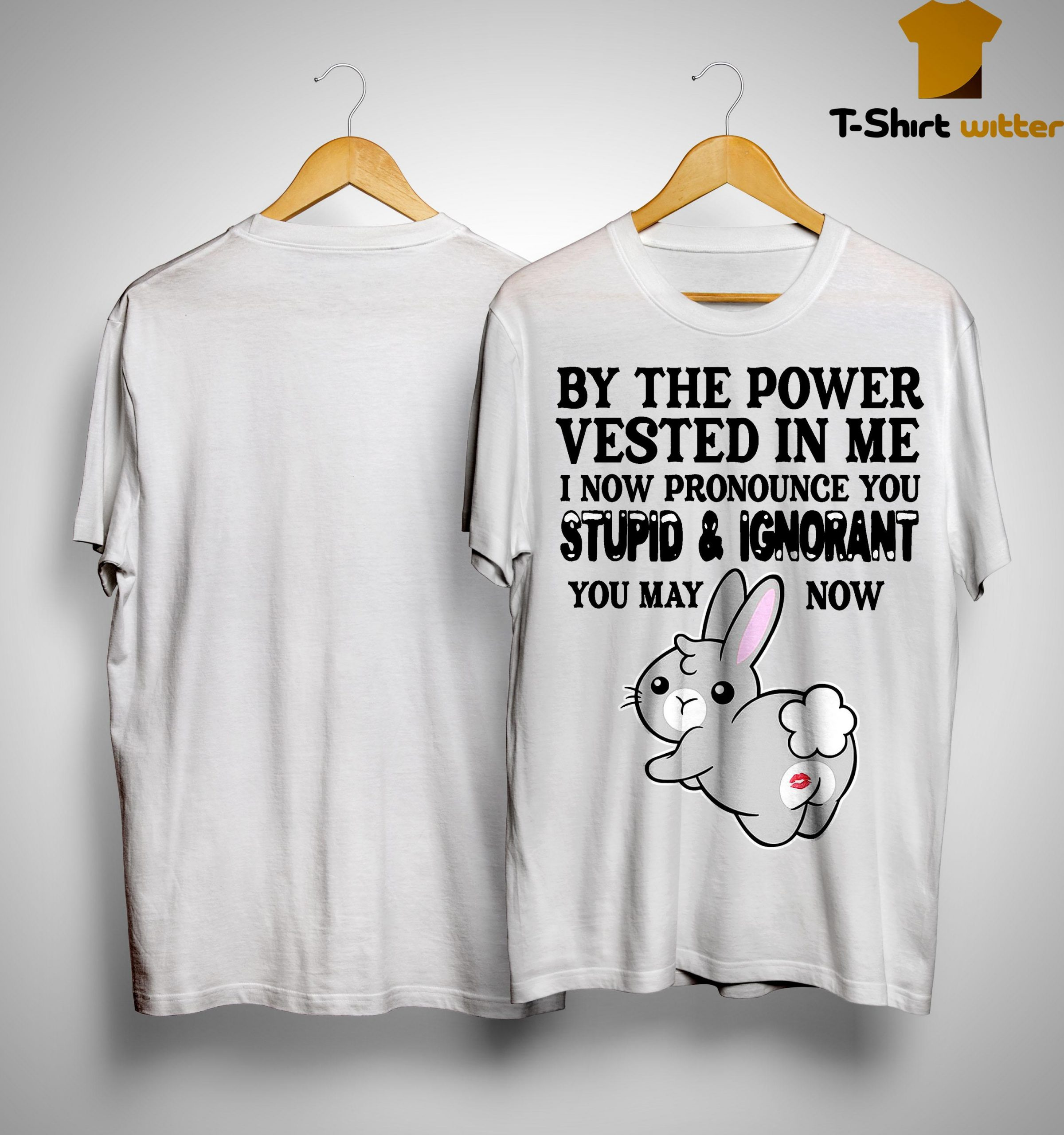 By The Power Vested In Me I Now Pronounce You Stupid And Ignorant Shirt
