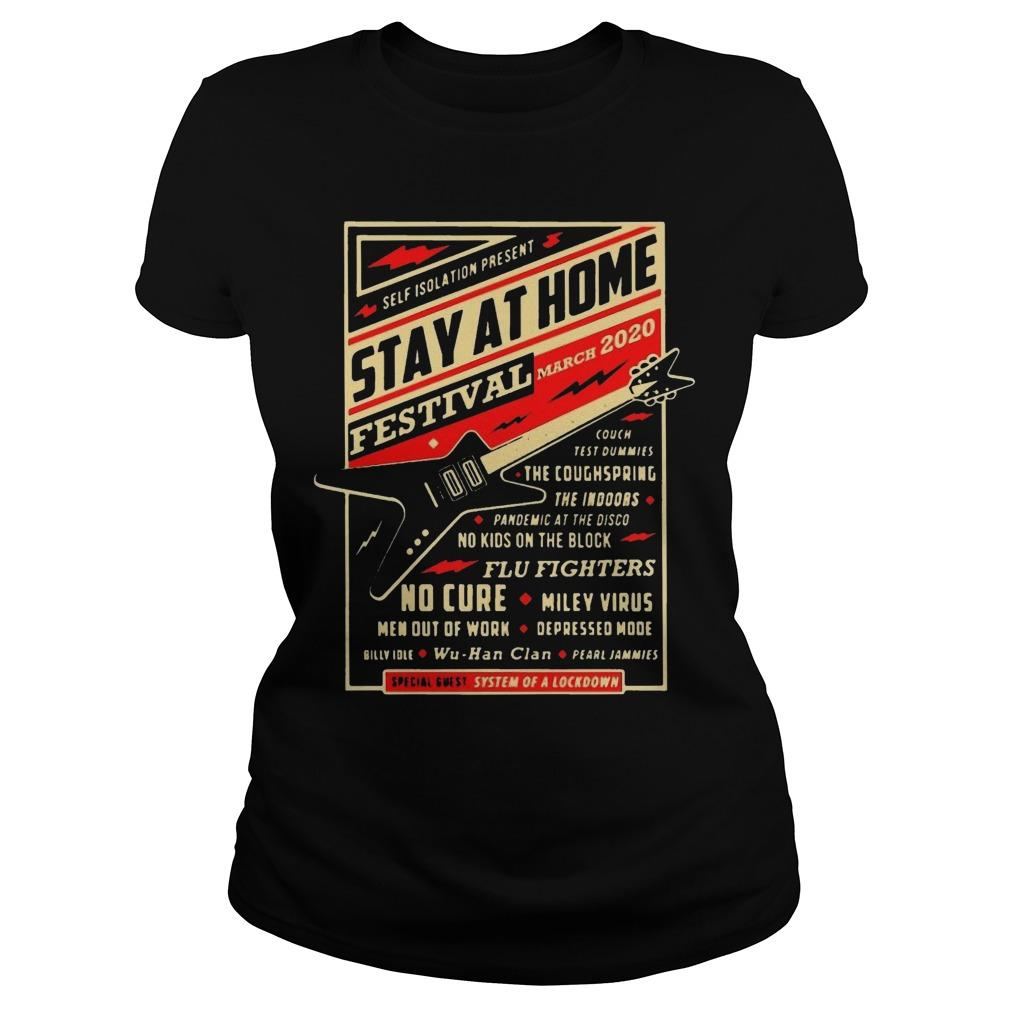 Guitar Self Isolation Present Stay At Home Festival Longsleeve