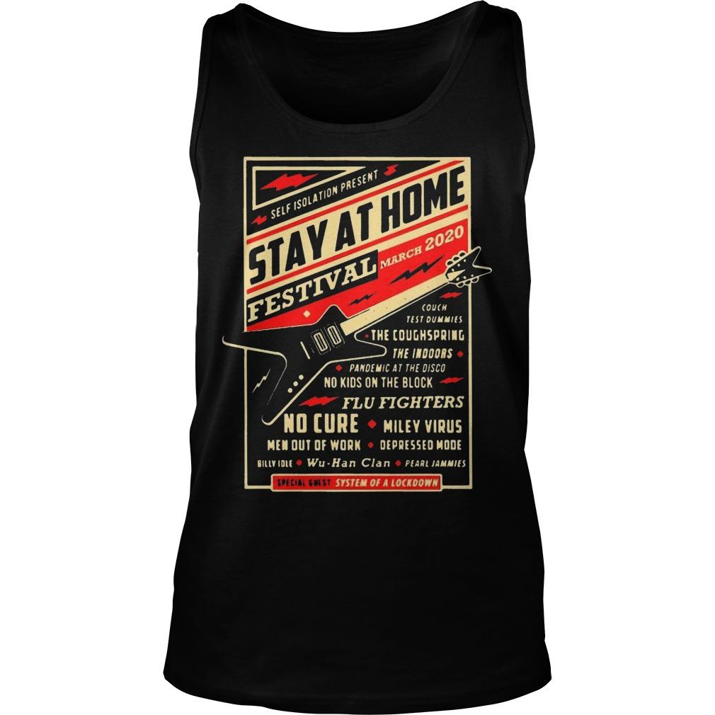 Guitar Self Isolation Present Stay At Home Festival Tank Top