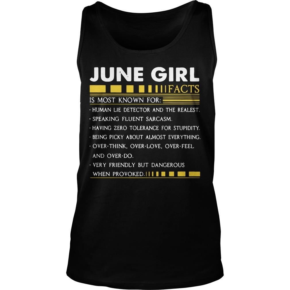 June Girl Facts Is Most Known For Human Lie Detector And The Realest Tank Top