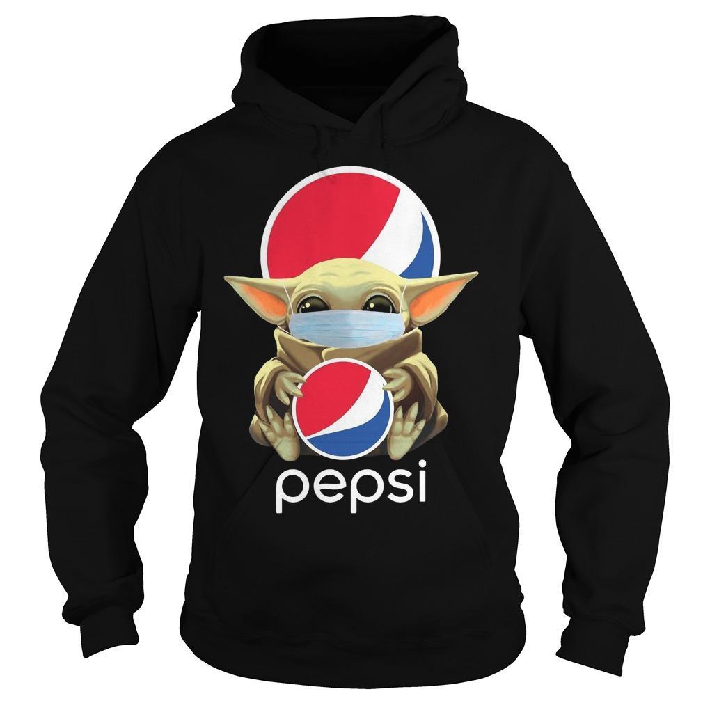Mask Baby Yoda Hugging Pepsi Hoodie