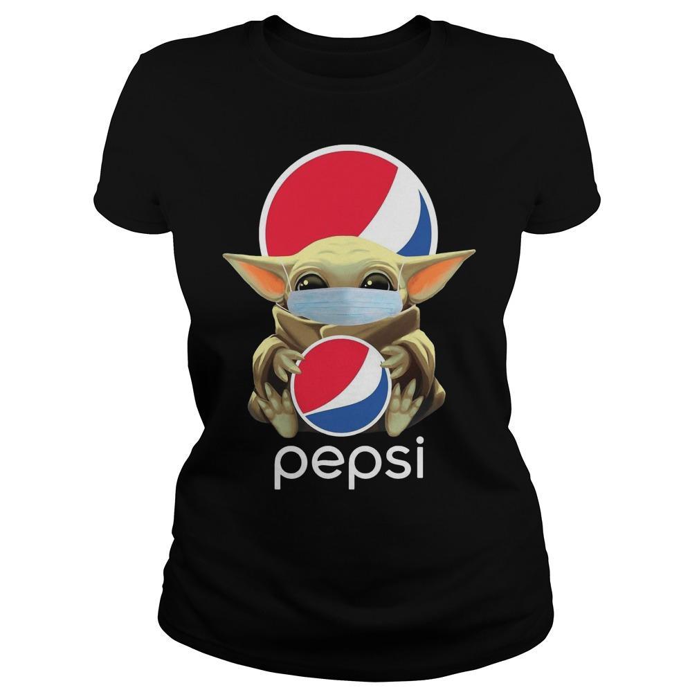 Mask Baby Yoda Hugging Pepsi Longsleeve