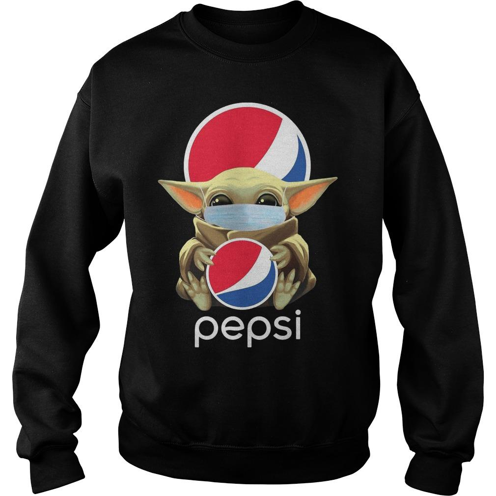Mask Baby Yoda Hugging Pepsi Sweater