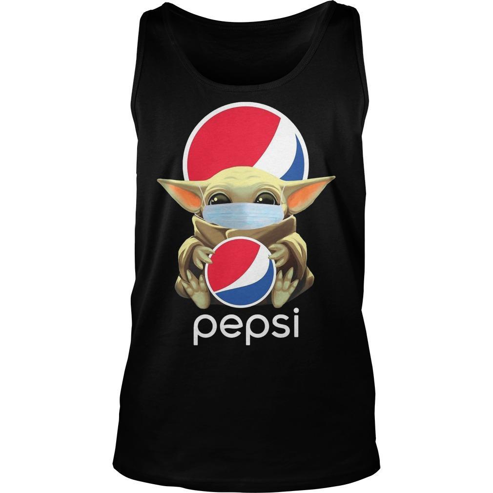 Mask Baby Yoda Hugging Pepsi Tank Top