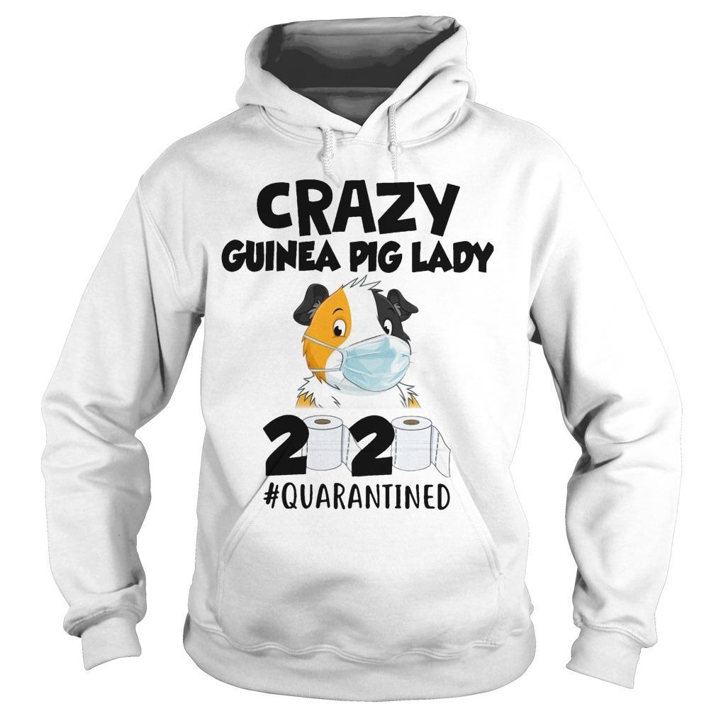 Mask Crazy Guinea Pig Lady 2020 #quarantined Hoodie