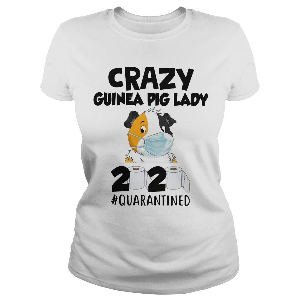 Mask Crazy Guinea Pig Lady 2020 #quarantined Longsleeve