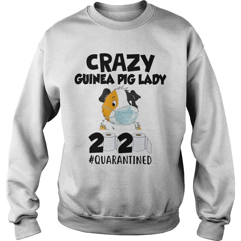 Mask Crazy Guinea Pig Lady 2020 #quarantined Sweater