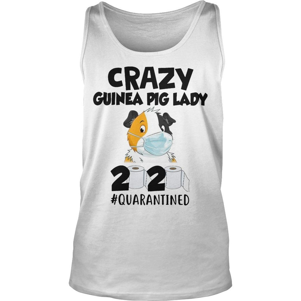 Mask Crazy Guinea Pig Lady 2020 #quarantined Tank Top