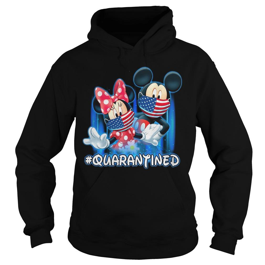 Mickey And Minnie Mouse #quarantined Hoodie