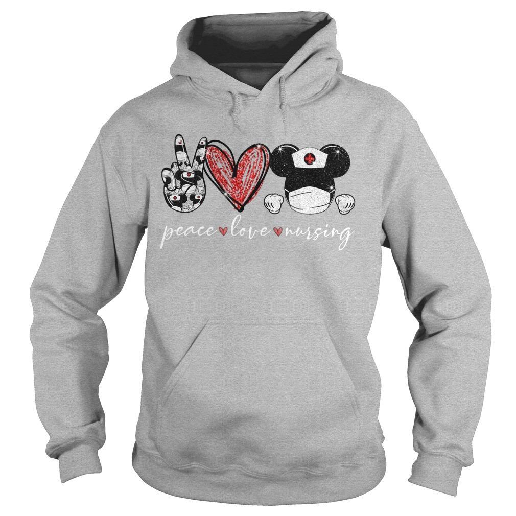 Peace Love Mickey Nursing Hoodie