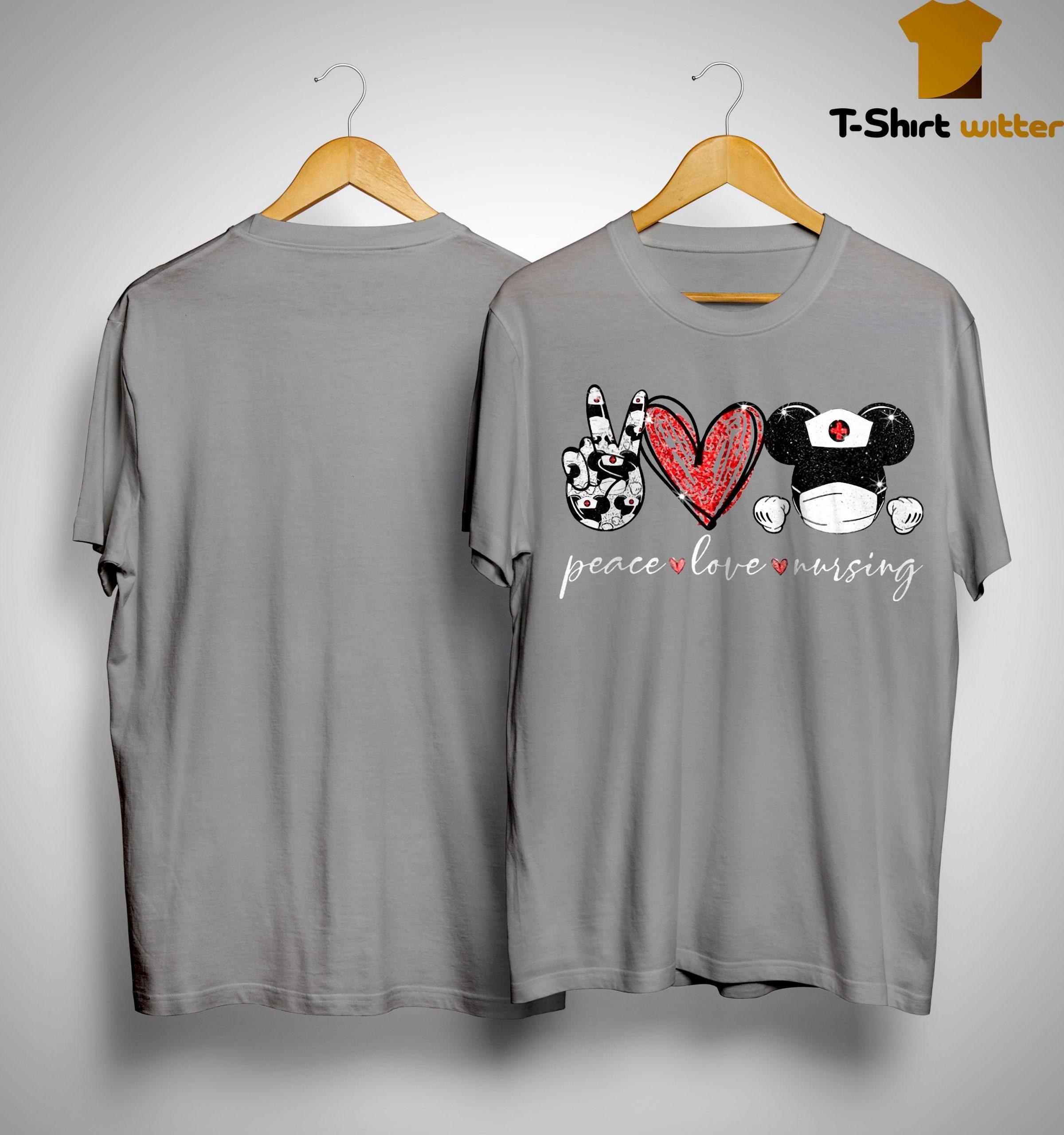 Peace Love Mickey Nursing Shirt