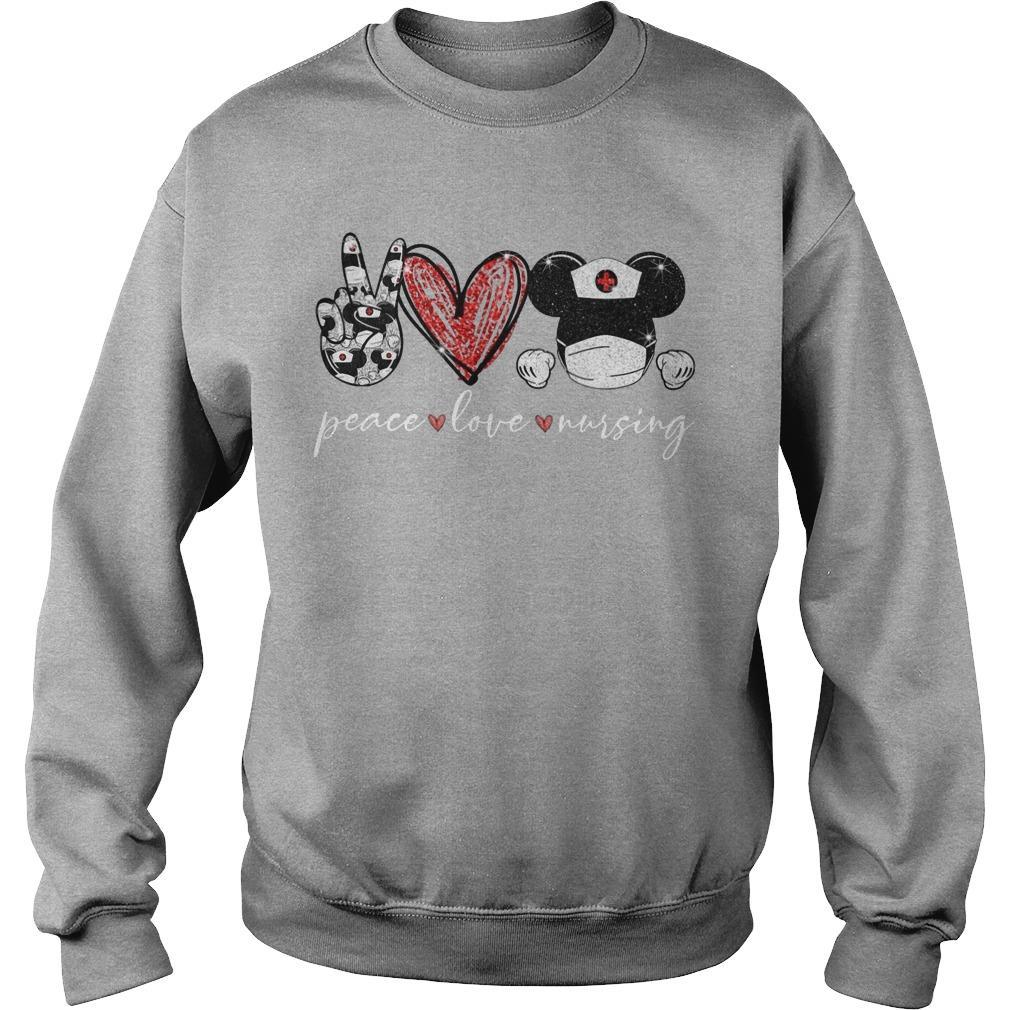 Peace Love Mickey Nursing Sweater