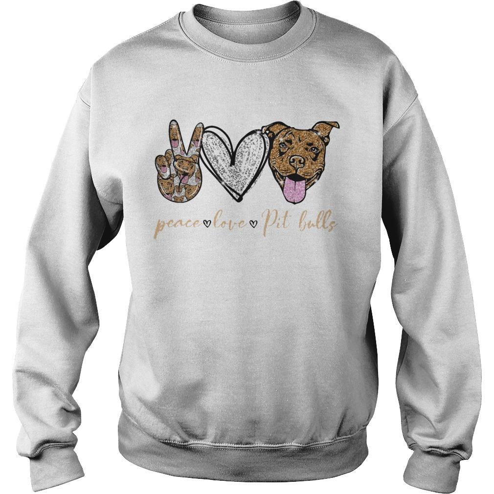 Peace Love Pit Bulls Sweater