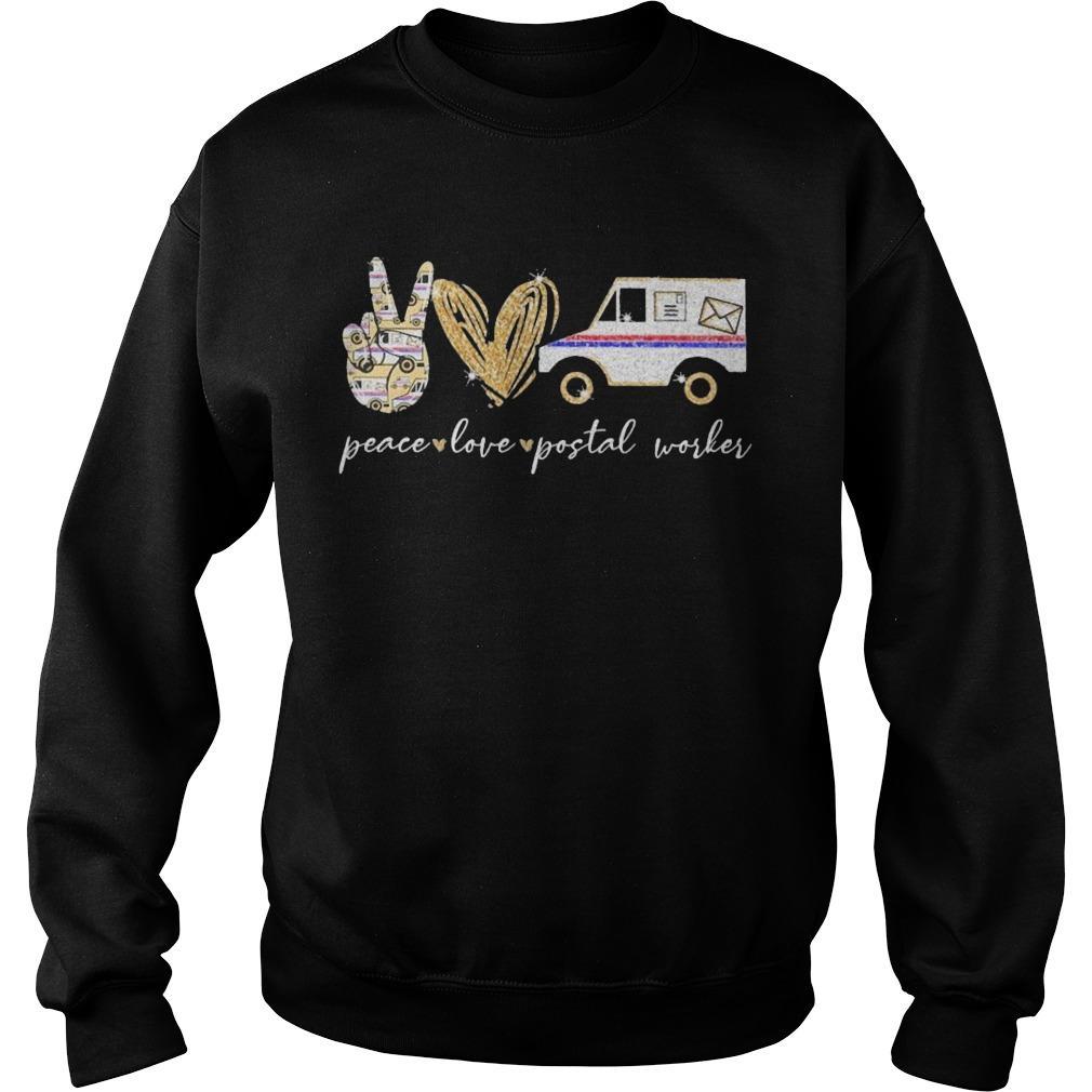 Peace Love Postal Worker Sweater