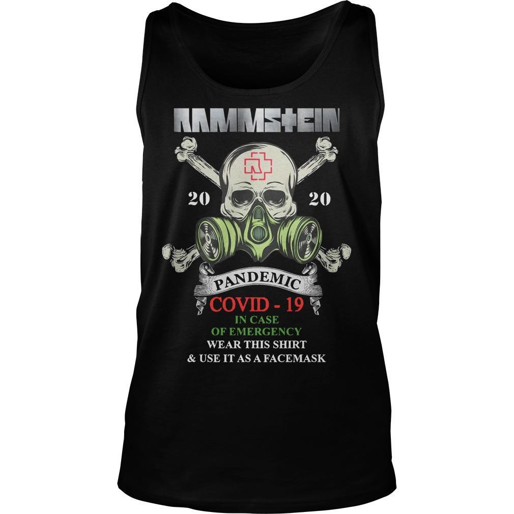 Rammstein 2020 Pandemic Covid 19 Tank Top