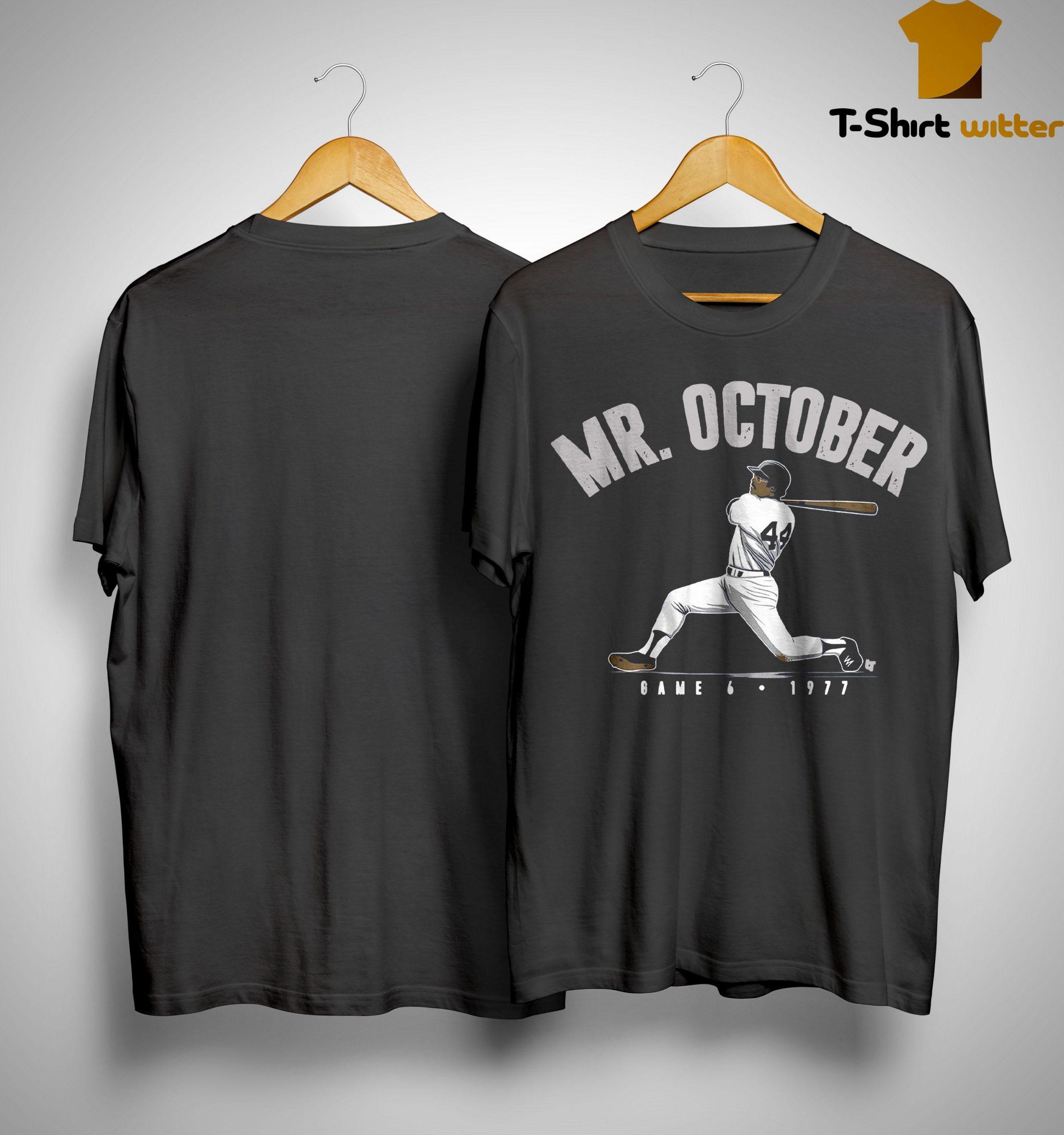 Reggie Jackson Mr October Shirt