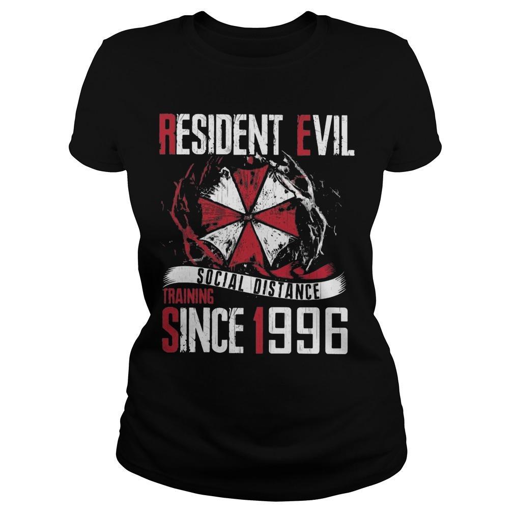 Resident Evil Social Distance Training Since 1996 Longsleeve