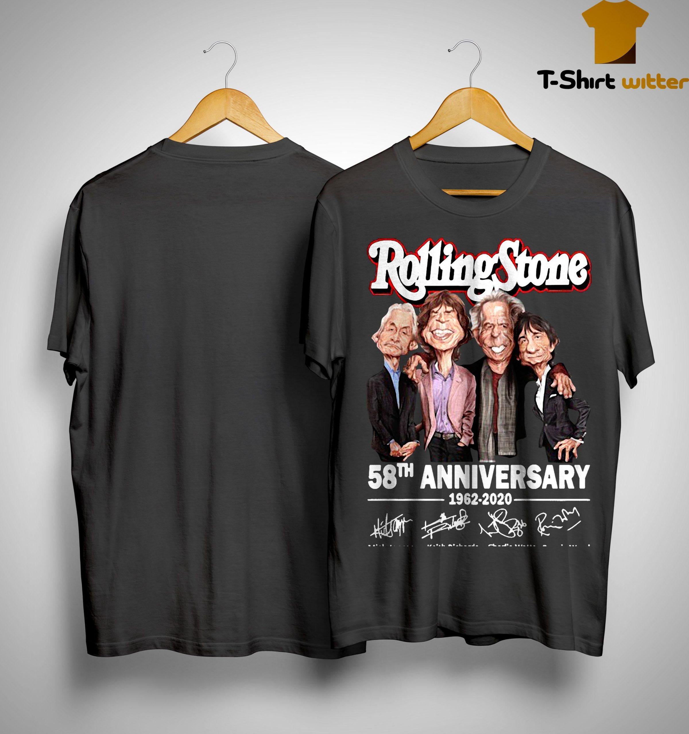 Rolling Stone 58th Anniversary 1962 2020 Shirt