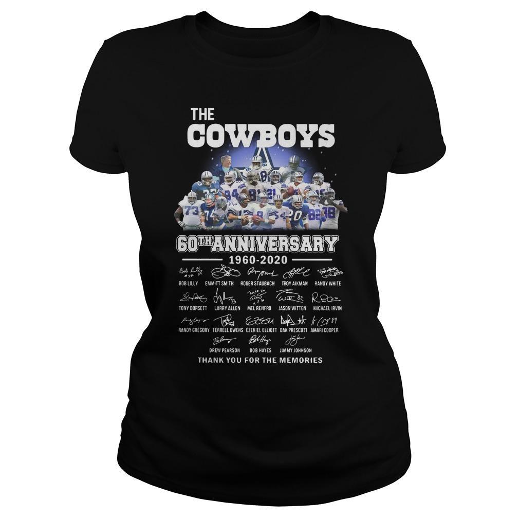 The Cowboys 60th Anniversary 1960 2020 Signature Longsleeve