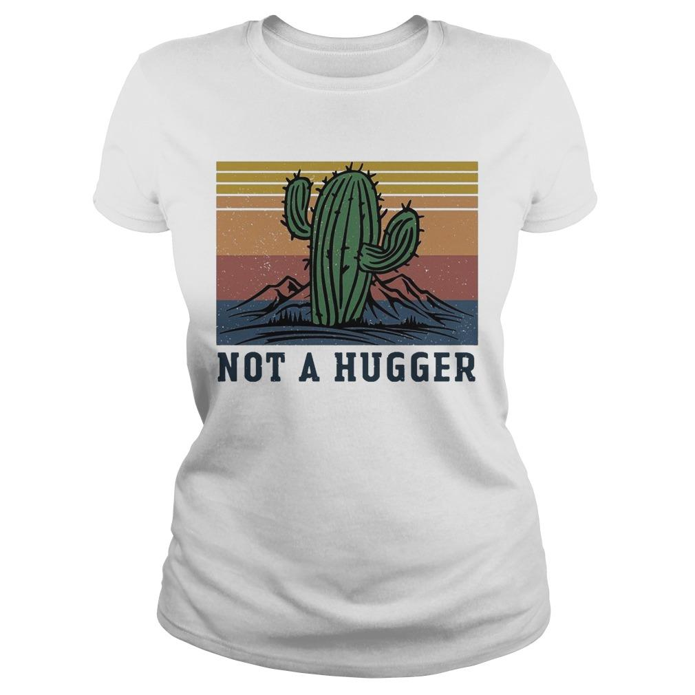 Vintage Cactus Not A Hugger Longsleeve