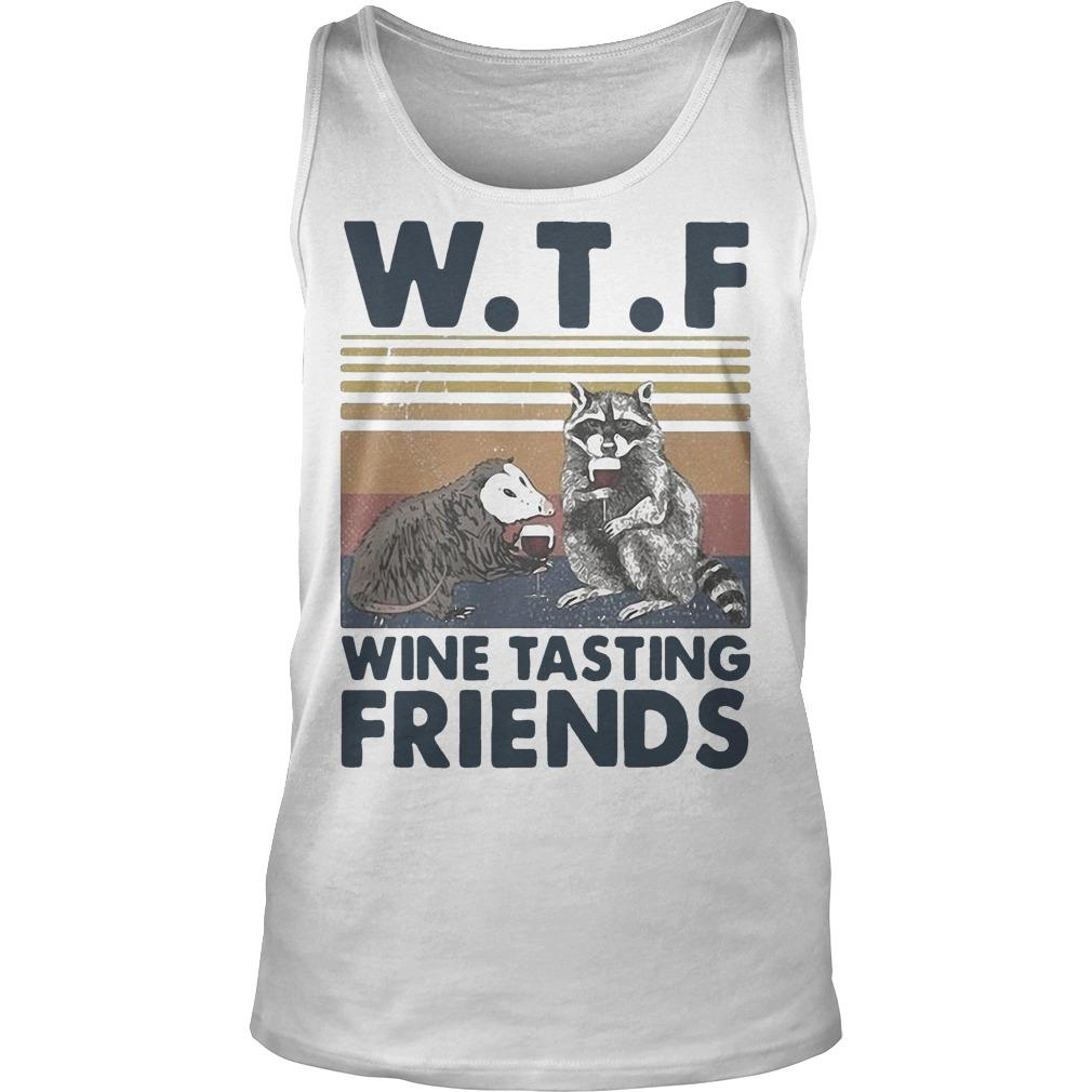 Vintage Trash Animal Wtf Wine Tasting Friends Tank Top