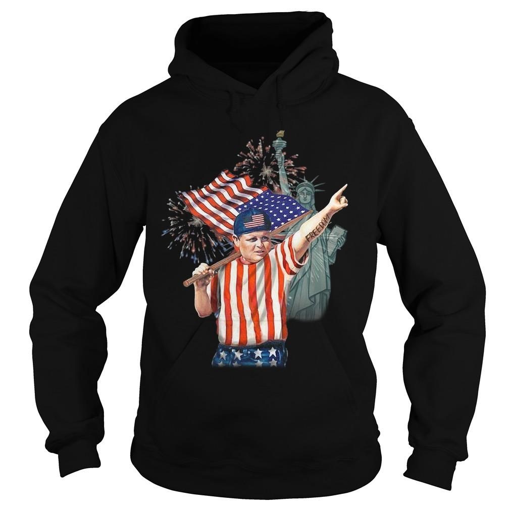 America Independence Day Liberty Statue Fat Boy Hoodie
