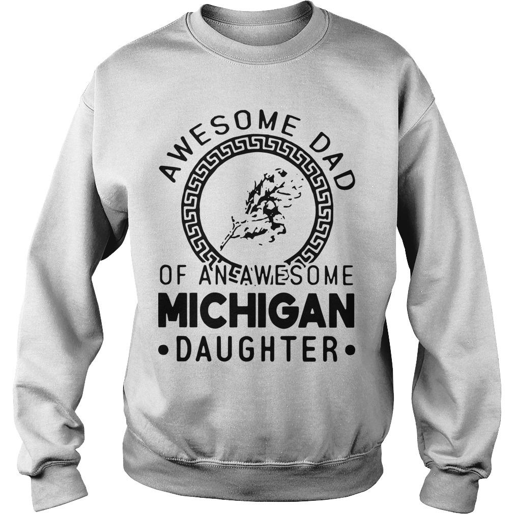 Awesome Dad Of An Awesome Texas Daughter Sweater