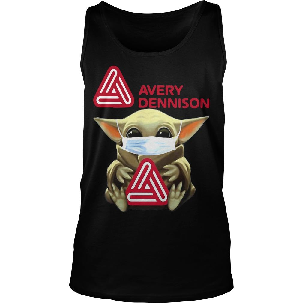 Baby Yoda Mask Hugging Avery Dennison Tank Top