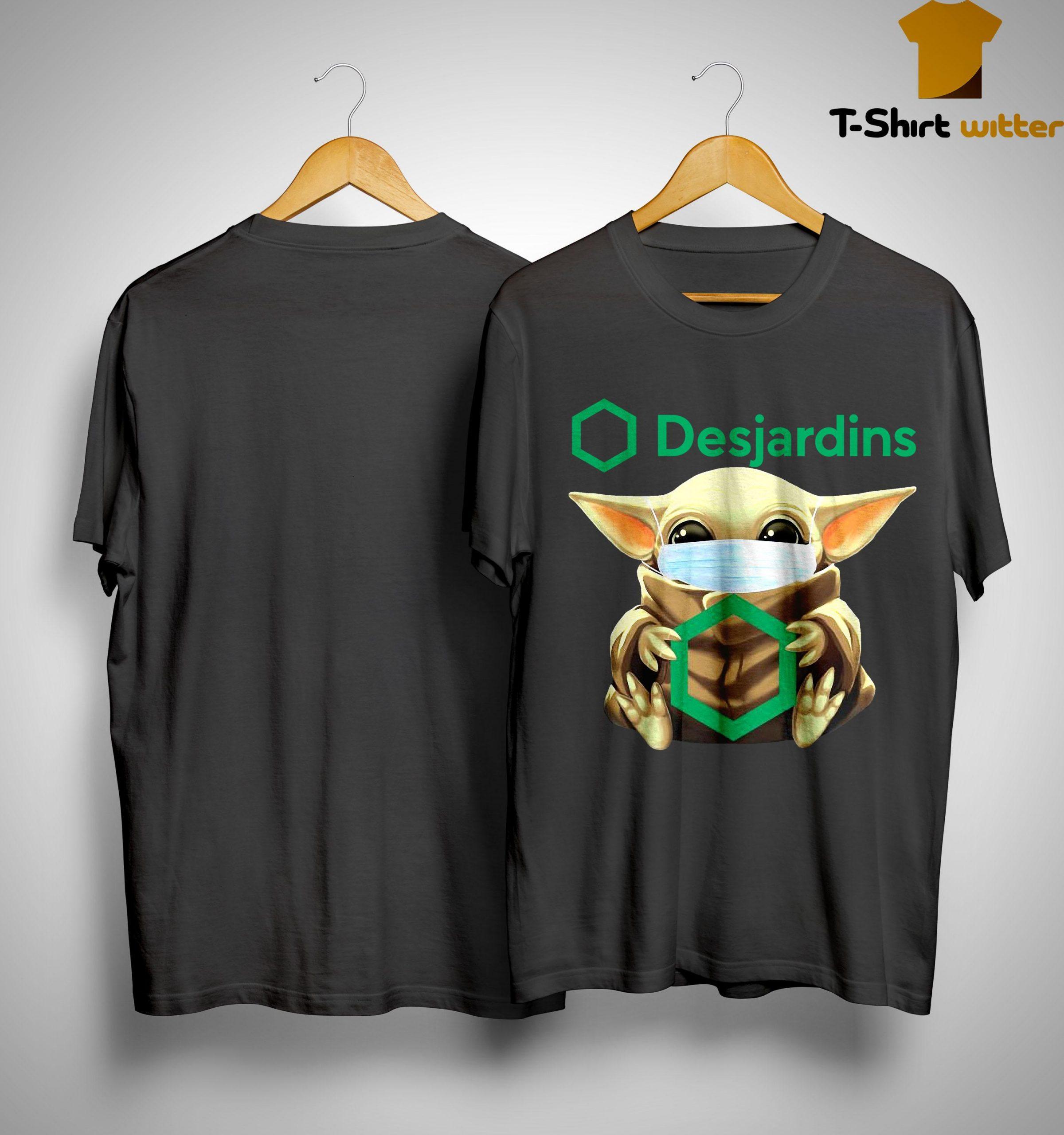 Baby Yoda Mask Hugging Desjardins Shirt