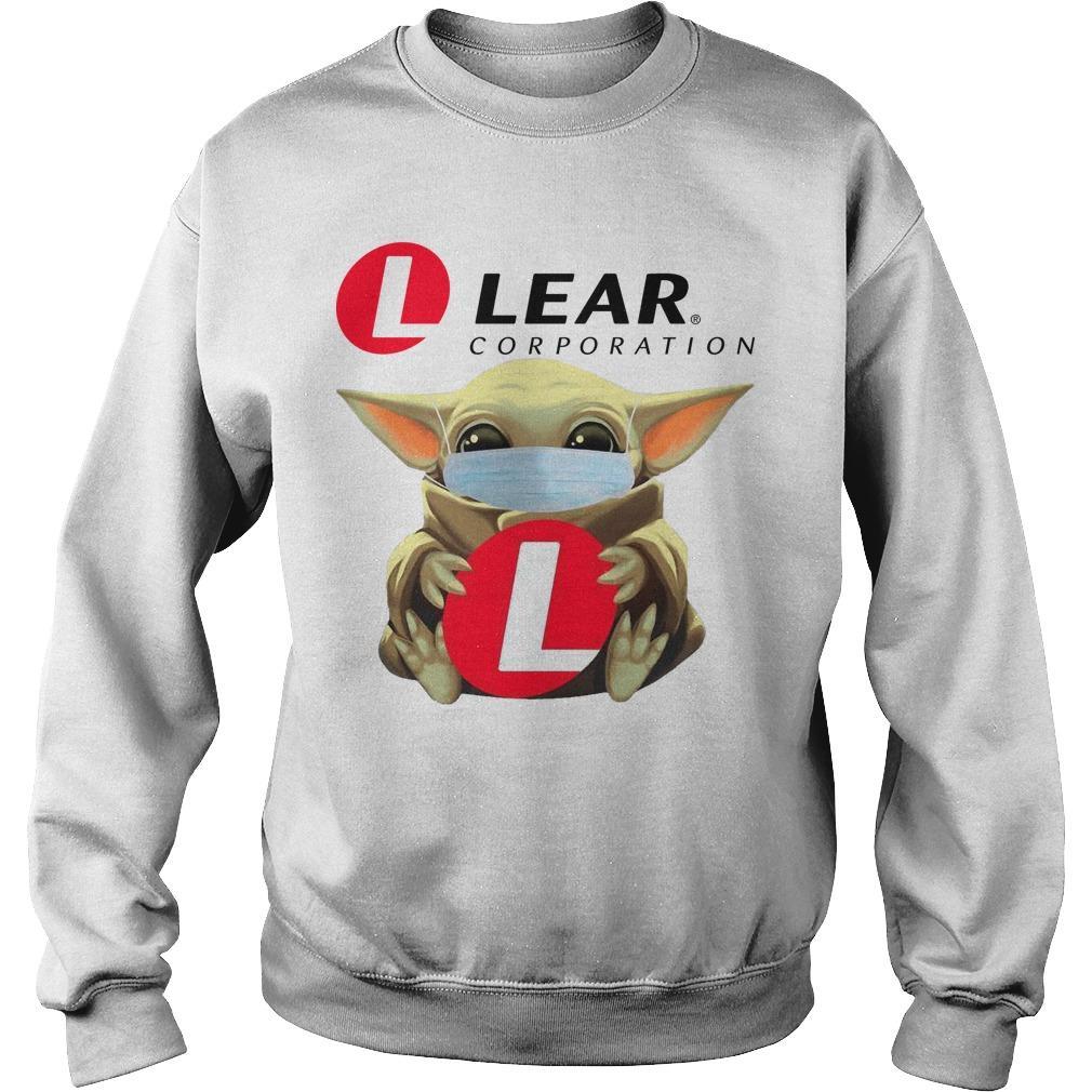 Baby Yoda Mask Hugging Lear Corporation Sweater