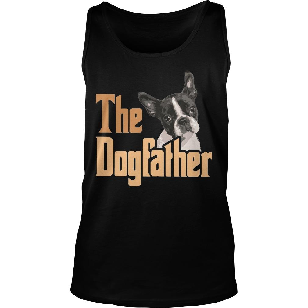 Boston Terrier The Dogfather Tank Top
